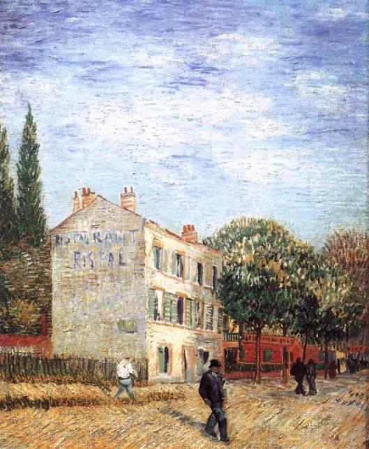 Rispal Restaurant at Asnières 1887