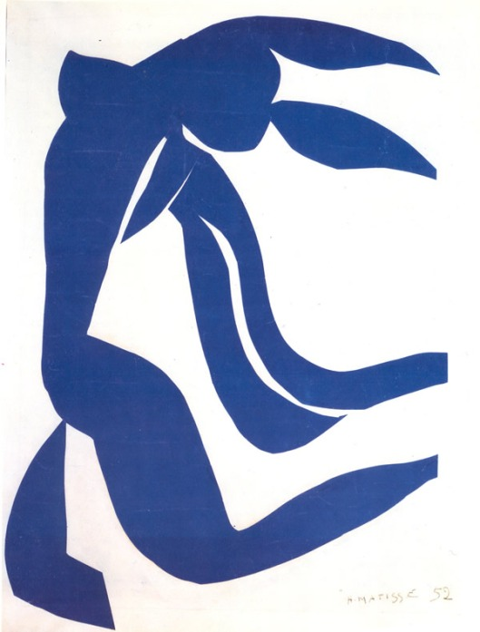 Blue Nude with Hair in the Wind 1952