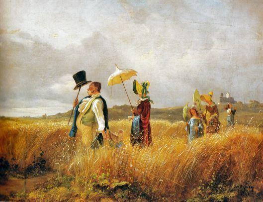 Carl_Spitzweg - Passeio ao campoA