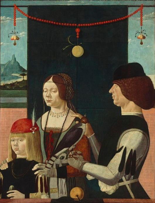 Mestre de Ferrara retrato de familia 1480 Munique A