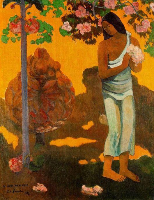 Mulher com flores nas mãos 1899