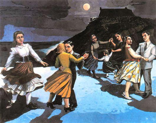 A dança 1988 acrilico sobre papel