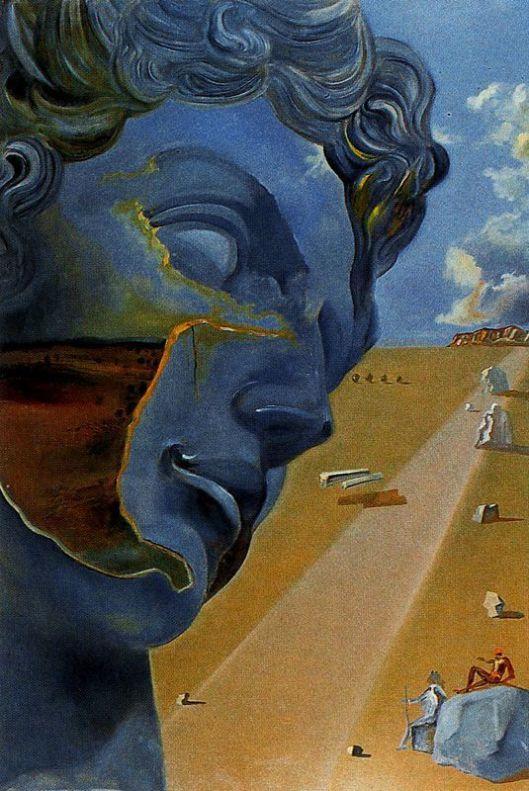 Dalí -  Segundo a cabeça de Juliano de Medicis em Florença - 1982