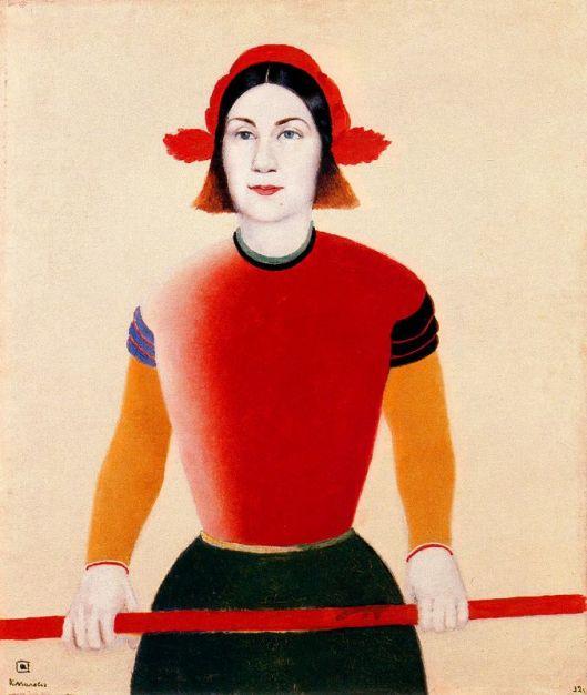 Mulher com pau vermelho 1932-33