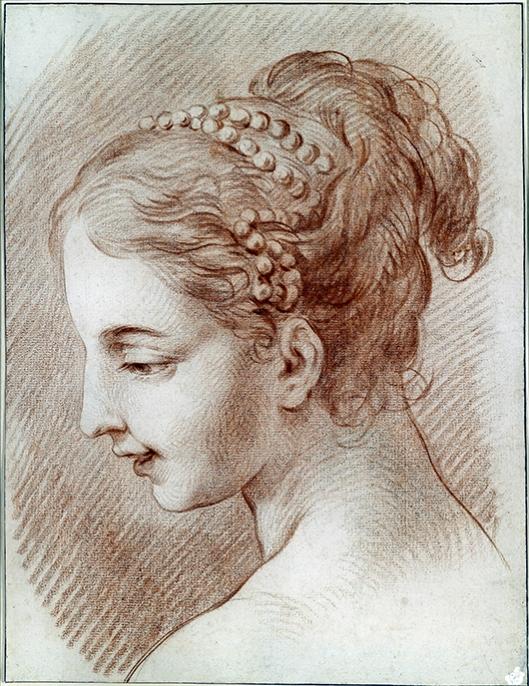 Charles André van Loo - retrato de rapariga 530