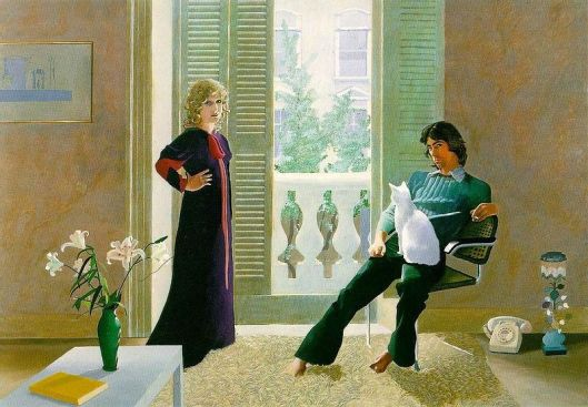 David Hockney (1937) - Mr. and Mrs. Clark and Percy - 1970-71