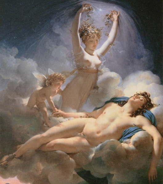 GUÉRIN, Pierre-Narcisse - Aurora e Cephalus 1810 fragmento 600px