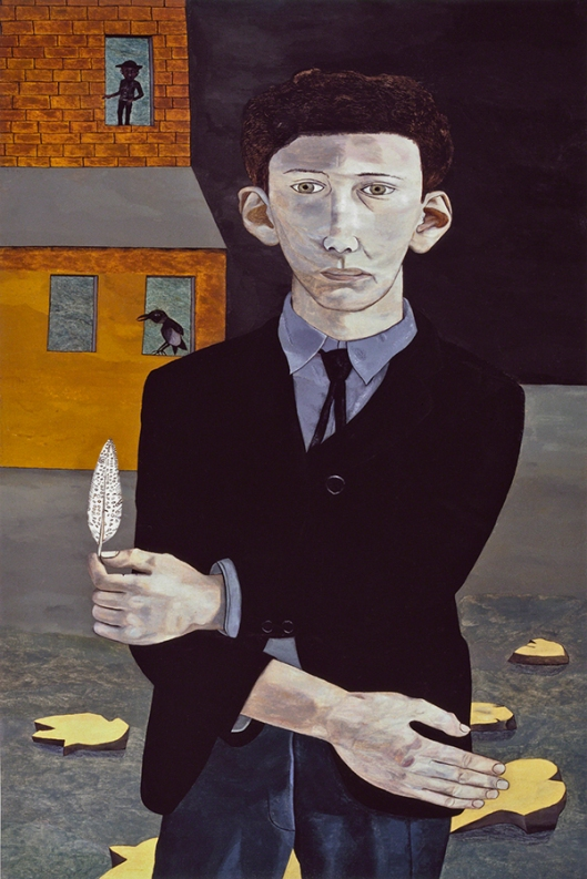 Lucien Freud - Man with a Feather (Self-portrait) 1943 600px