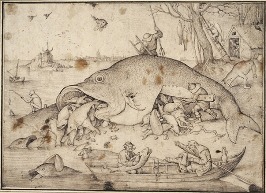 Bruegel - O peixe graúdo come o peixe miúdo 600px