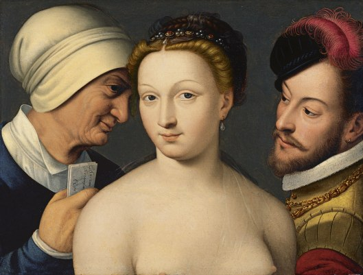 François Clouet The love letter 1570 - colecção do museu Thyssen de Madrid