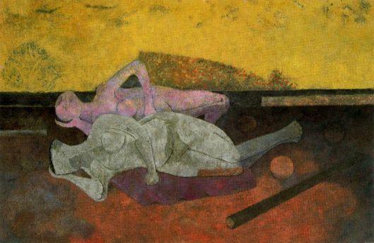 Tamayo Rufino - Duas mulheres em repouso 1984