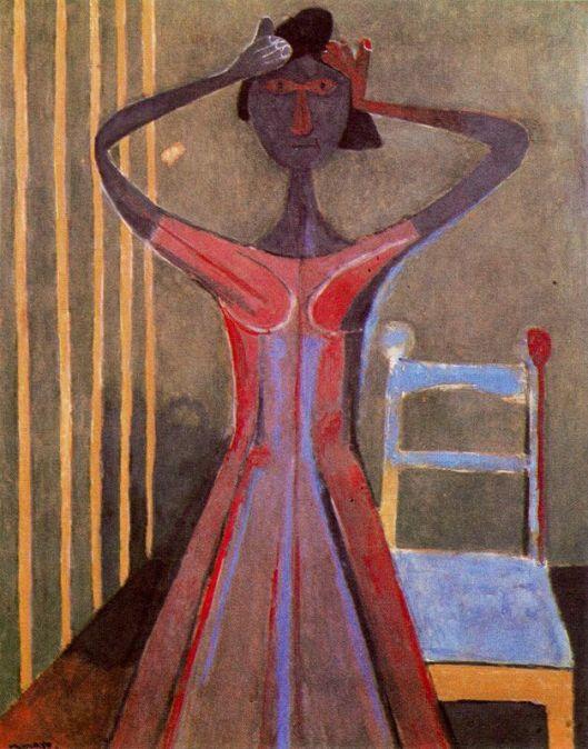 Tamayo Rufino - Mulher compondo o cabelo 1944