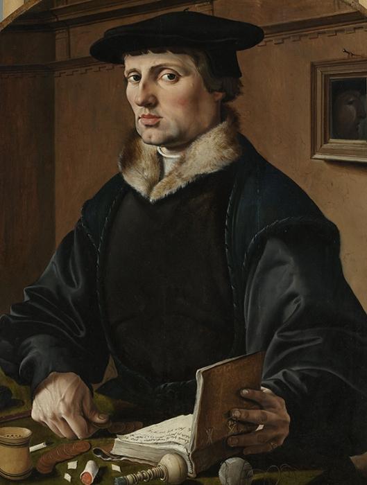 Maarten van Heemskerck (1498–1574) - Portraits of a Couple possibly Pieter Gerritsz Bicker and Anna Codde 1529 600
