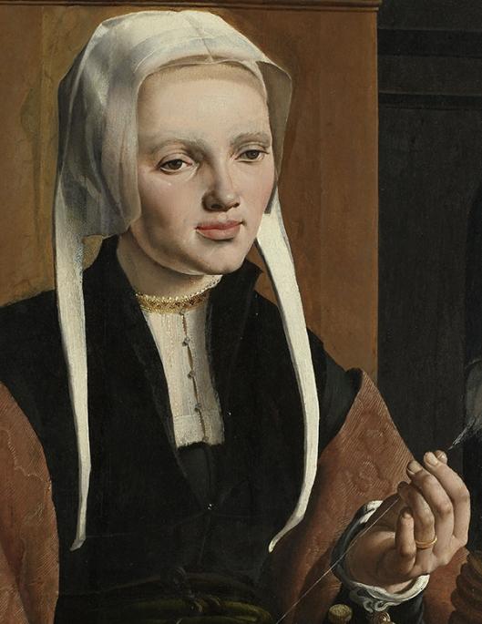 Maarten van Heemskerck (1498–1574) Portraits of a Couple possibly Pieter Gerritsz Bicker and Anna Codde Haarlem oil on panel 1529 B 600