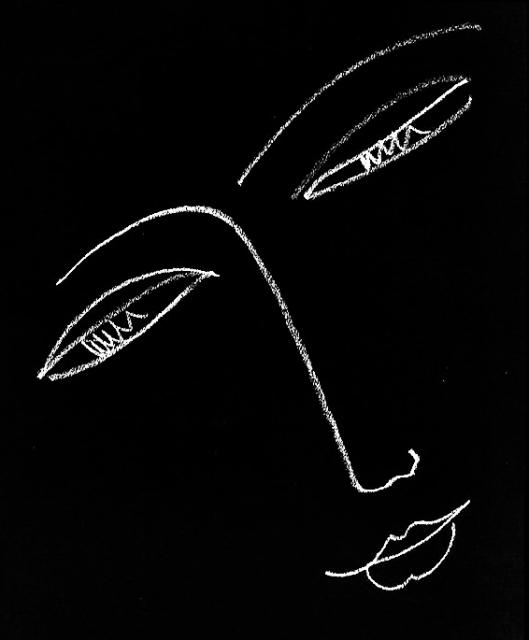 Matisse - Rosto de mulher 1935 invert