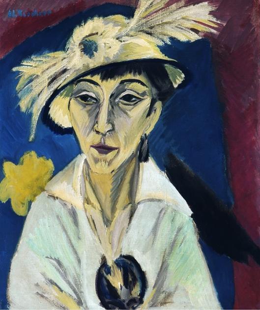 Ernst Ludwig Kirchner -  Retrato de Erna Schilling 1913 600px