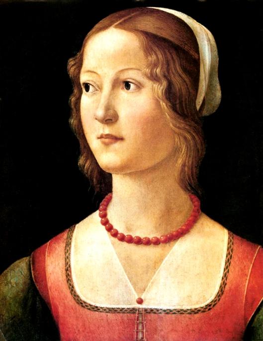 Domenico GHIRLANDAIO - retrato de uma jovem - colecção Gulbenkian 600px