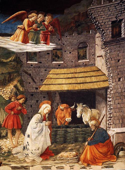 Fra Filippo LIPPI - Natividade fresco da Catedral de Spoleto 1467-69 B