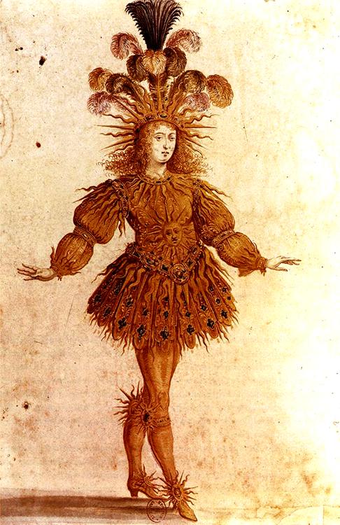Henri GISSEY - Luis XIV com Apolo no Ballet de la nuit 1653 480px