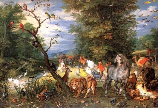 Jan Brueghel o Velho (1568-1625) - Os animais entrando na arca de Noé 600px