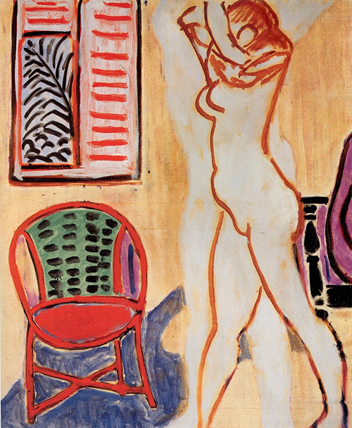 Matisse - Standing Nude with Raised Arms 1947 500px