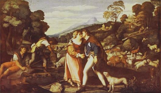 PALMA VECCHIO - O beijo de Raquel e Jacob 1515-25 a