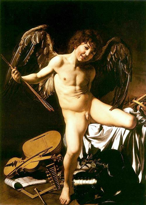 Caravaggio - O Amor supera tudo (Amor vincit omnia) 500px