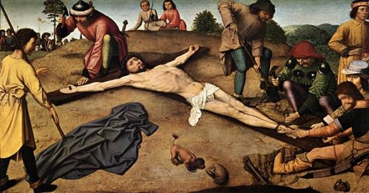 3 Gerard DAVID - Cristo pregado na cruz - 1480 600px