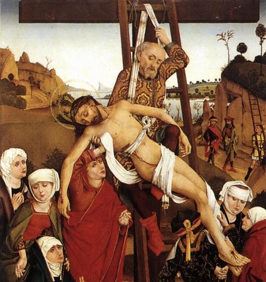 5 PLEYDENWURFF, Hans 1420-1472 Descida da cruz 1465detalhe 600px