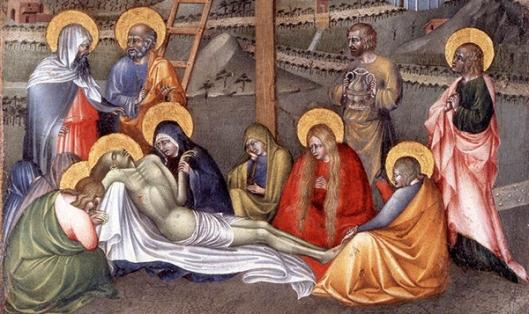 6 GIOVANNI DI PAOLO - Lamentação sobre a morte de Cristo 1430-35 detalhe 600px