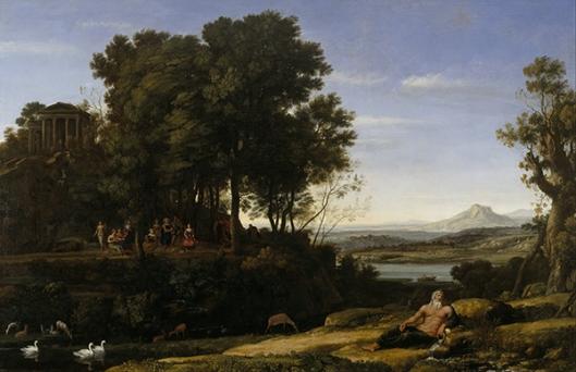 Claude Lorrain (Claude Gellée) - Paisagem com Apolo e  as Musas 1652 600px