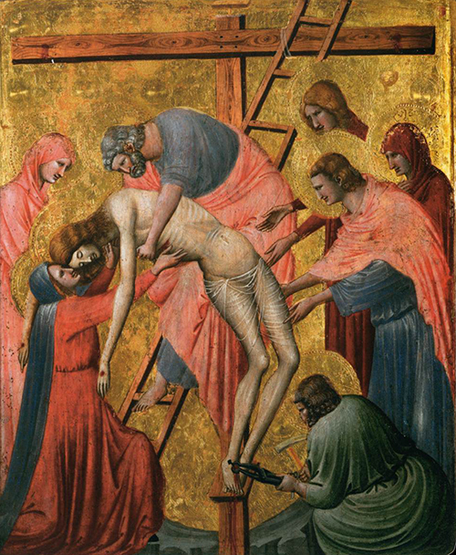 Pietro da Rimini (1300-1350) - Descida da cruz 1325-1330 500px