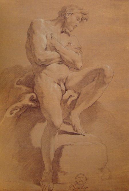 Boucher - Homem sentado com braços cruzados 450px