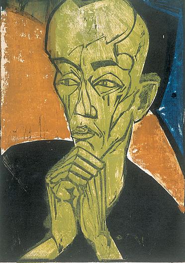 Erich Heckel - Retrato