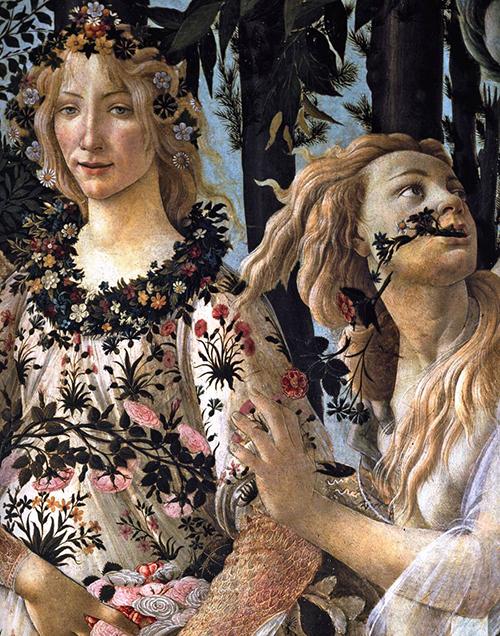 Botticelli - Primavera pormenor 1 500px