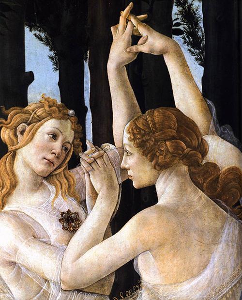 Botticelli - Primavera pormenor 3 500px