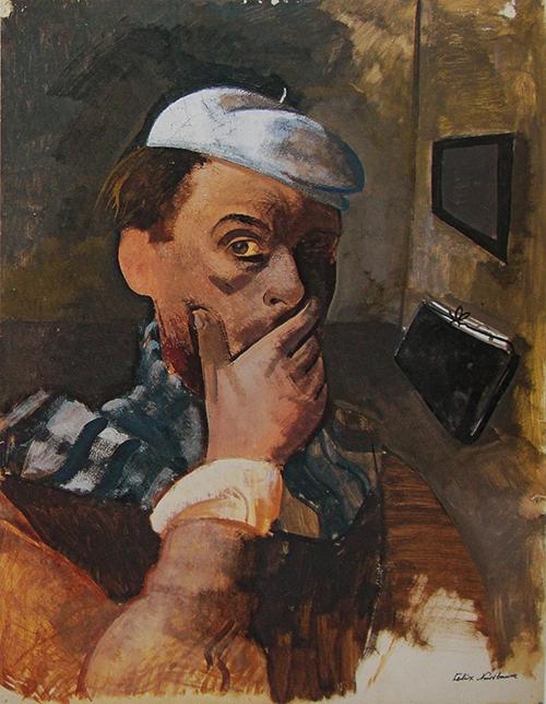 Felix Nussbaum 1 - Auto-retrato no atelier 1938 500px