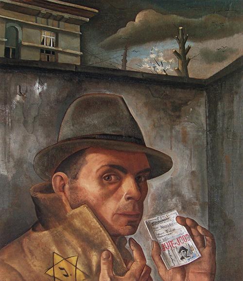 Felix Nussbaum 3 - Auto-retrato com passaporte judeu 1943 500px